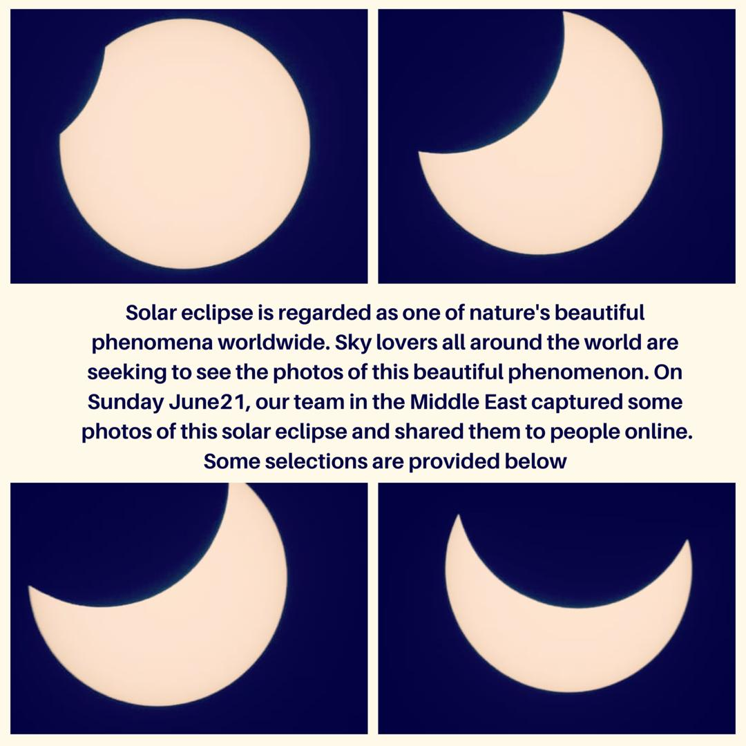 Solar Eclipse on Sunday,June 21